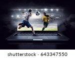 football hottest moments .... | Shutterstock . vector #643347550