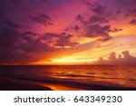 sunset in the caribbean | Shutterstock . vector #643349230