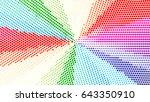 color radial dot halfton... | Shutterstock .eps vector #643350910