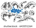 hand drawn sketch style seafood ...   Shutterstock .eps vector #643351264