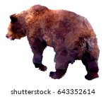 bear. low poly illustration.... | Shutterstock .eps vector #643352614
