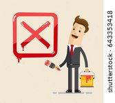 "businessman choose ""no"" in... 