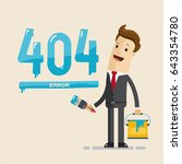 businessman and page 404  error ... | Shutterstock .eps vector #643354780
