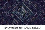 color square cyber tunnel ... | Shutterstock .eps vector #643358680