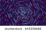 color hexagonal cyber tunnel ... | Shutterstock .eps vector #643358686