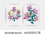 wedding invitation card. vector ... | Shutterstock .eps vector #643359178