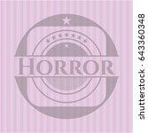 horror vintage pink emblem | Shutterstock .eps vector #643360348