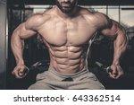 handsome caucasian sexy fitness ... | Shutterstock . vector #643362514