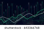 Digital analytics concept, data visualization, financial schedule, vector | Shutterstock vector #643366768