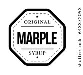 marple syrup vintage sign vector | Shutterstock .eps vector #643372093