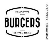 burger vintage stamp retro... | Shutterstock .eps vector #643372570