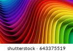 Abstract Colorful Waves. 3d...