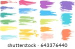 set abstract colorful pastel... | Shutterstock .eps vector #643376440