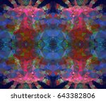abstract mosaic background.... | Shutterstock .eps vector #643382806