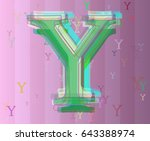 alphabet y background design | Shutterstock .eps vector #643388974