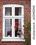 a nice window close up in ribe  ... | Shutterstock . vector #64340044