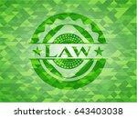 law green emblem. mosaic... | Shutterstock .eps vector #643403038