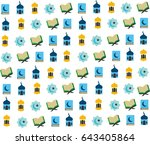 ramadhan icon compilation logo... | Shutterstock .eps vector #643405864