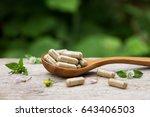 Pile Of Herbal Capsules On...