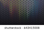 glowing hexagon pattern... | Shutterstock . vector #643415008