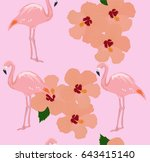 vector illustration of seamless ... | Shutterstock .eps vector #643415140