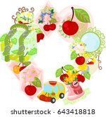 the frame that is made with... | Shutterstock .eps vector #643418818