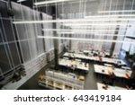 modern library blur background | Shutterstock . vector #643419184