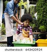 african descent kid separating... | Shutterstock . vector #643420924