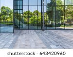 empty pavement and modern... | Shutterstock . vector #643420960