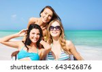 summer holidays  people ... | Shutterstock . vector #643426876