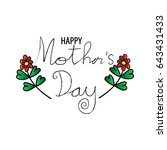 happy mothers day card  | Shutterstock .eps vector #643431433