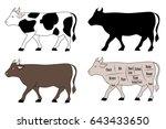 cattle variation set   several  ... | Shutterstock .eps vector #643433650