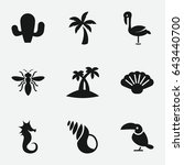 Exotic Icon. Set Of 9 Exotic...