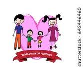 world parents day emblem... | Shutterstock .eps vector #643446460