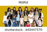 various of diversity women... | Shutterstock . vector #643447570