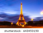 paris  france   may 1  2017 ... | Shutterstock . vector #643453150