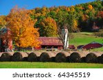 Beautiful Red Barn And Fall...