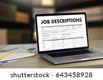job descriptions human... | Shutterstock . vector #643458928