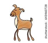 color crayon stripe cartoon of... | Shutterstock .eps vector #643460728