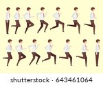 running man for animation 14... | Shutterstock .eps vector #643461064