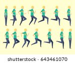 running man for animation 14... | Shutterstock .eps vector #643461070