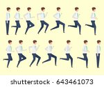 running man for animation 14... | Shutterstock .eps vector #643461073