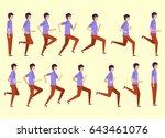 running man for animation 14...   Shutterstock .eps vector #643461076