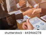 good teamwork meeting in office    Shutterstock . vector #643466278