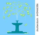 money fountain vector... | Shutterstock .eps vector #643466386
