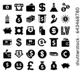 cash icons set. set of 36 cash... | Shutterstock .eps vector #643468780