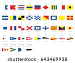 international maritime signal... | Shutterstock .eps vector #643469938