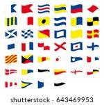 international maritime signal... | Shutterstock .eps vector #643469953