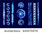 set of tie dye art brushes.... | Shutterstock .eps vector #643470370