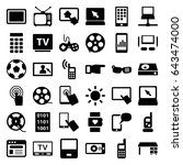 screen icons set. set of 36... | Shutterstock .eps vector #643474000